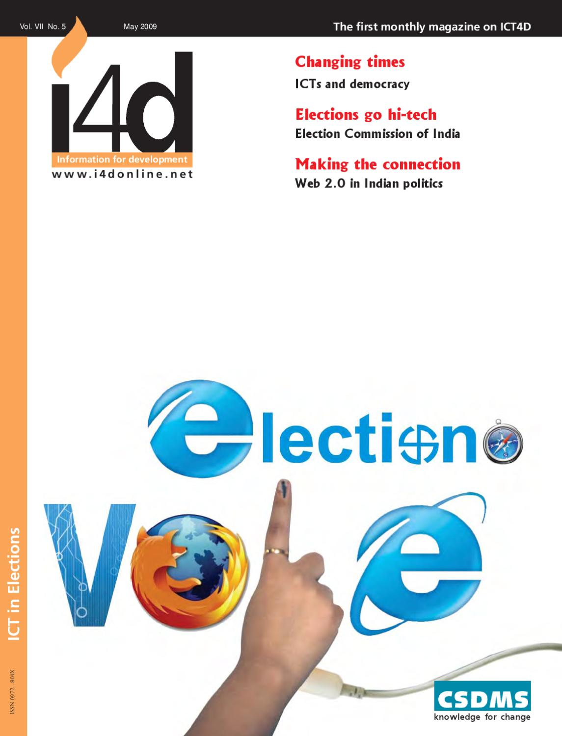 ICT in Elections : May 2009 Issue