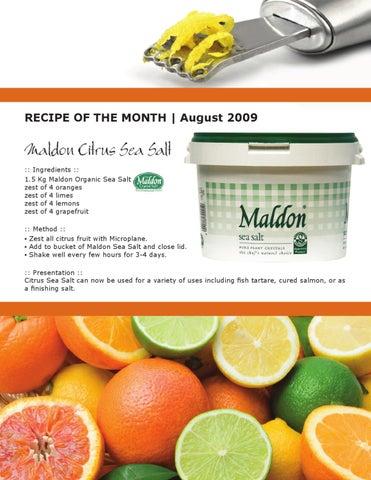 Recipe :: Maldon Citrus Sea Salt by Qualifirst Foods - issuu