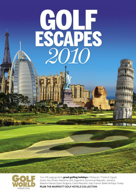 Sueno hotel atlantic golf holidays atlantic golf holidays - Golf Escapes 2010 Golfing Holiday Brochure By Brave Creative Issuu