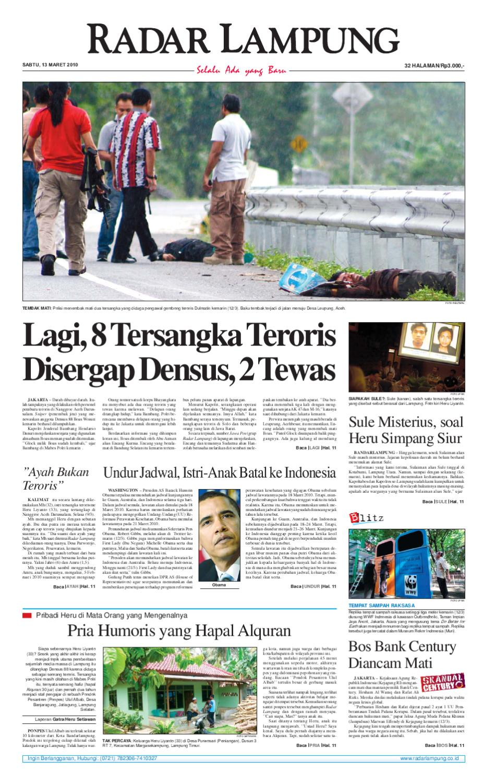 Radar Lampung Sabtu 13 Maret 2010 By Ayep Kancee Issuu Rejeki Anak Soleh 3 Agip 4t Super 1l