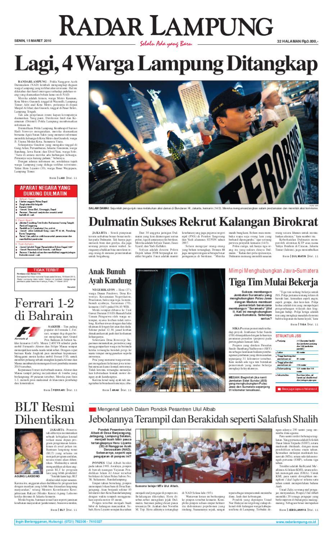Radar Lampung Senin 15 Maret 2010 By Ayep Kancee Issuu Rkb Bni Tegal Kranjang Buah Nur Fashion And Art