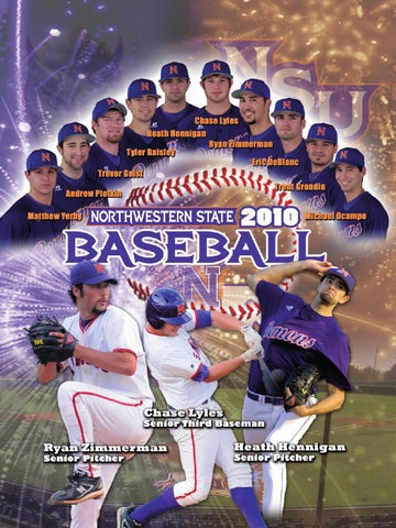 2010 nsu baseball media guide by northwestern state athletics issuu page 1 malvernweather Gallery