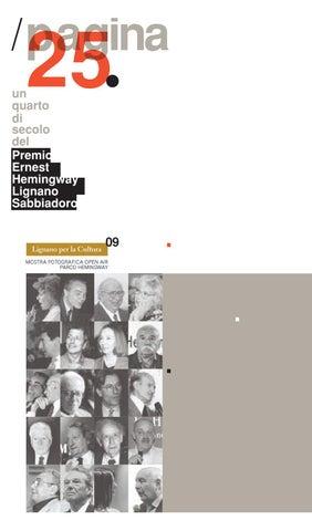 Pagina 25. Un quarto di secolo del Premio Ernest Hemingway Lignano ...