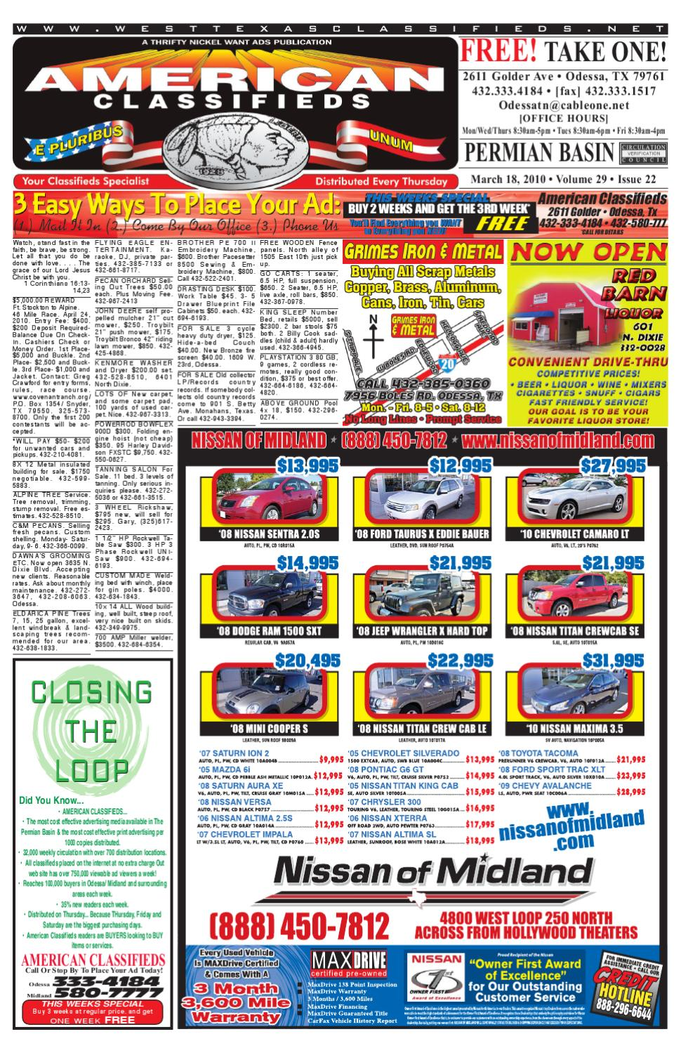 987c7ee965 American Classifieds   Thrifty Nickel by MIDLAND  ODESSA AMERICAN  CLASSIFIEDS - issuu