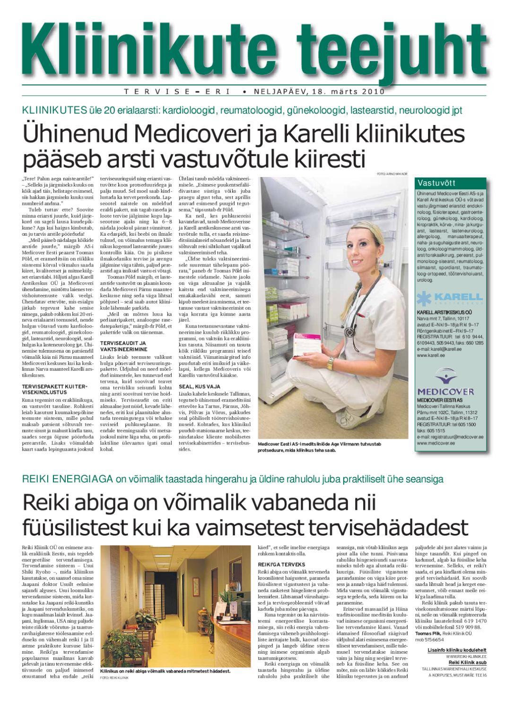 940d09ab6c3 Kliinikute teejuht by Eesti Päevalehe AS - issuu