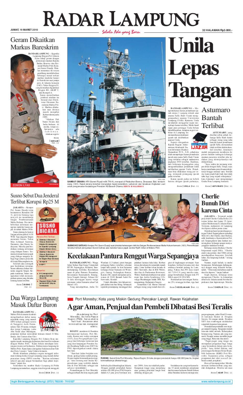 Radar Lampung Senin 7 Februari 2011 By Ayep Kancee Issuu Lg Kulkas Inverter Gn M572hphl 178cm Putih Bunga Khusus Jabodetabek Jumat 19 Maret 2010