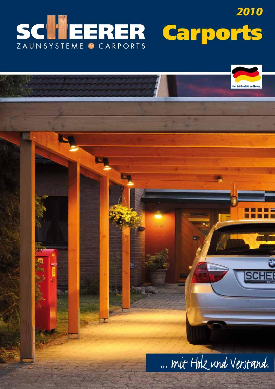 Scheerer Katalog Carport 2010 by W & L Jordan GmbH issuu