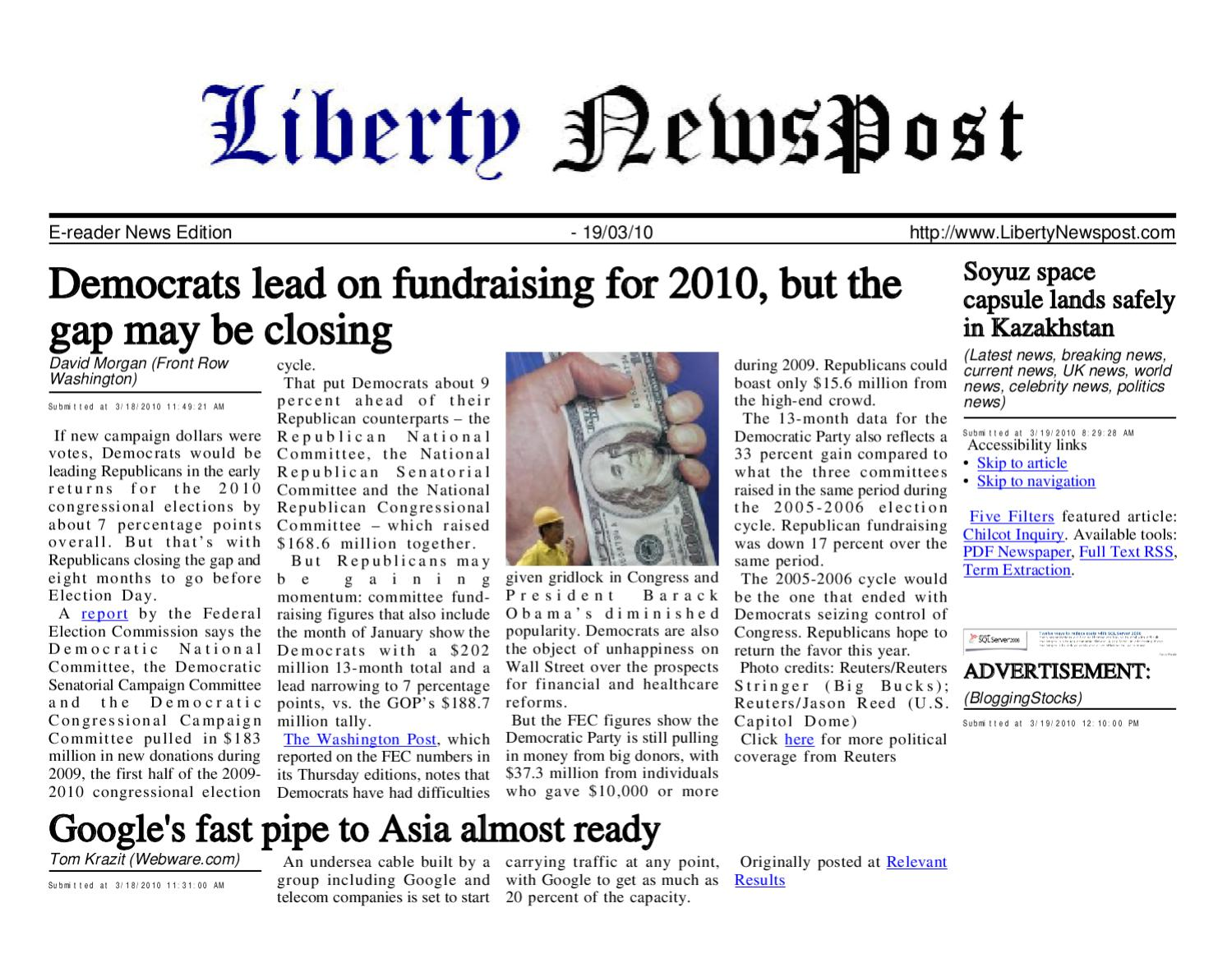 Liberty Newspost Mar-19-10 by Liberty Newspost - issuu