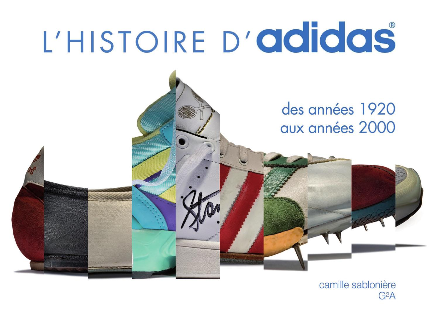 on sale 68bfd bf93c HISTORY OF ADIDAS by camille sabloniere - issuu