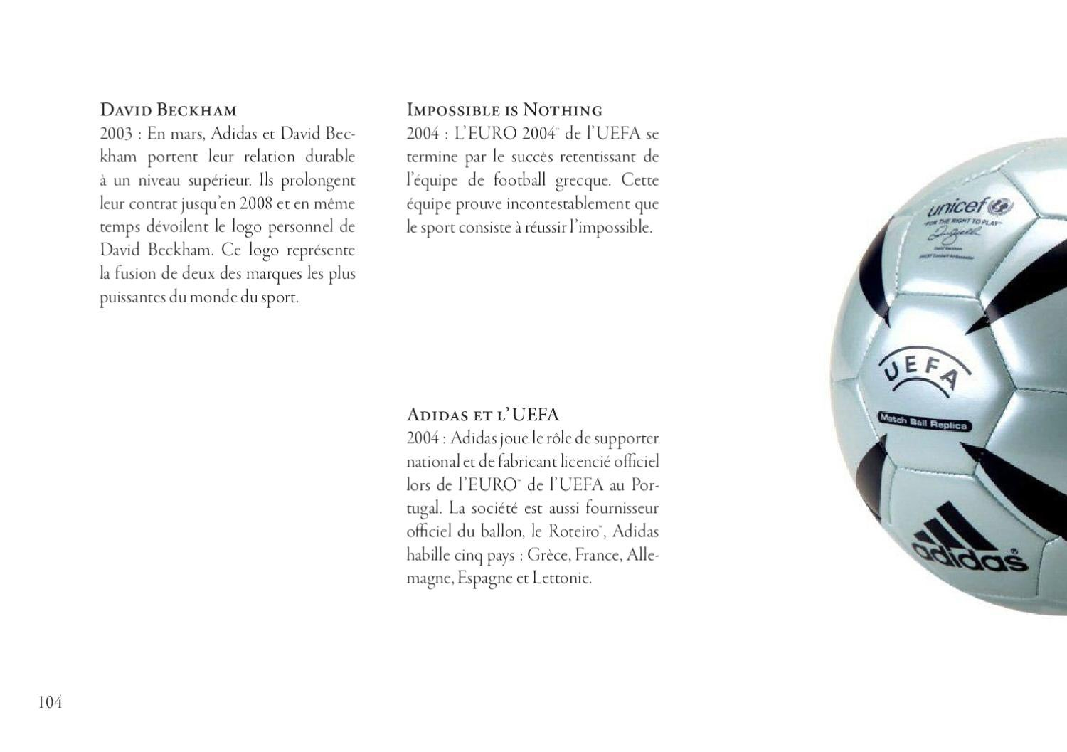HISTORY OF ADIDAS by camille sabloniere issuu