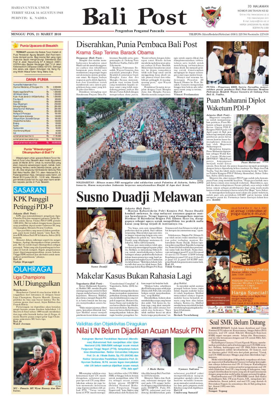 Edisi 21 Maret 2010 Balipostcom By E Paper Kmb Issuu Keripik Rumput Laut Jawaria Pal