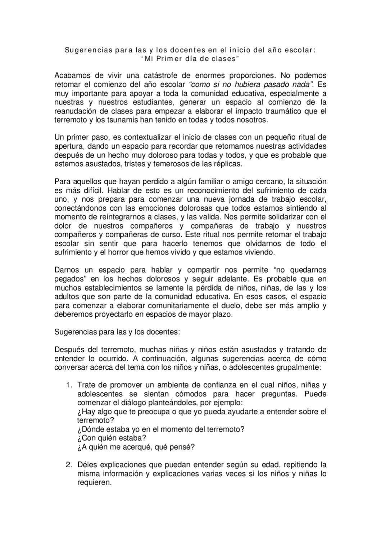 Orientaciones para el inicio del Año Escolar by andres fuentealba ...
