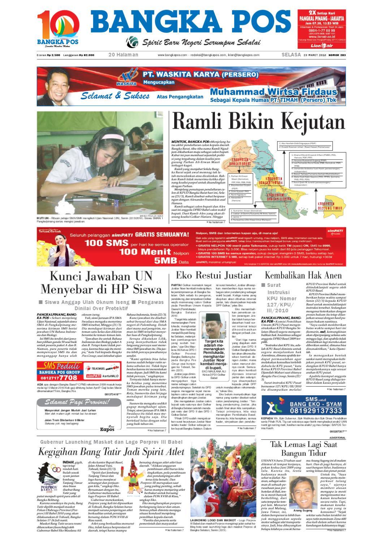 Harian Pagi Bangka Pos Edisi 23 Maret 2010 by bangka pos - issuu 8a1d10a9e5