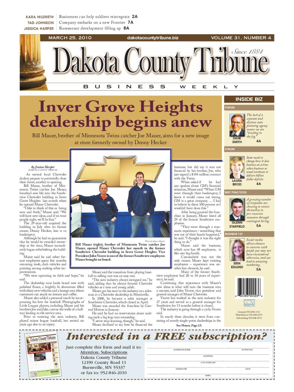 03/25/2010 - dakota county tribune business weekly by dakota