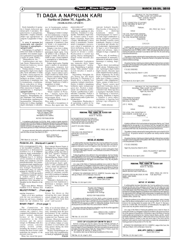 Tawid News Magasin Vol X No 3 March 22 28 2010 By Designhubph