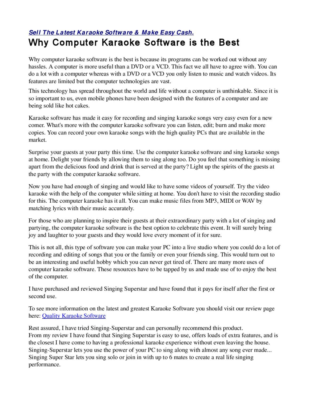 Why Computer Karaoke Software Is The Best By Brianna Torres Issuu Ben platt, kristolyn lloyd, will rolland, laura dreyfuss & original broadway cast of dear evan hansen. issuu