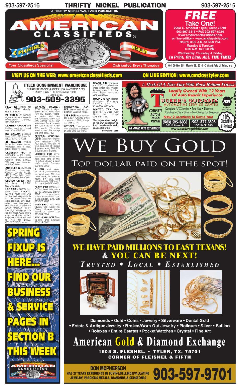 21931222713 Tyler_Am_Class_SecA_032510 by Want Ads of Tyler, Inc. - issuu