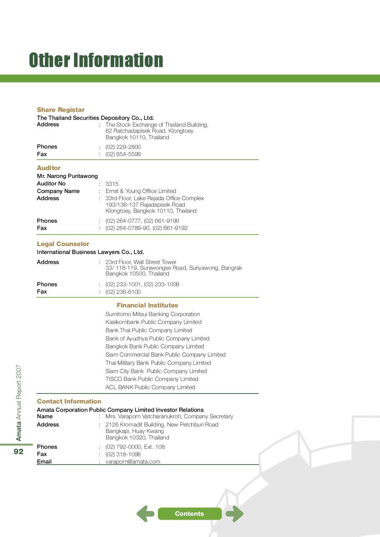 AMATA: Annual Report 2007 ENG by Piyanat Kimhamanon - issuu