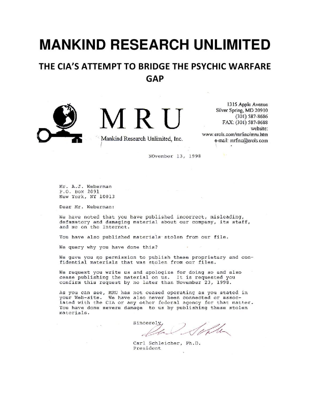 CIA'S PSYCHIC RESEARCH PROPRIETARY by Alan Weberman - issuu