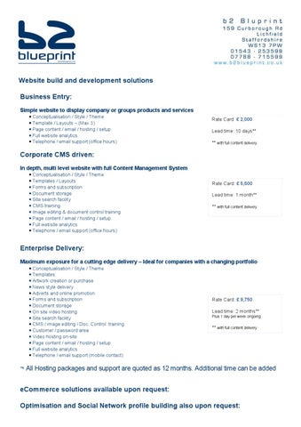 B2 blueprint simplified document by b2 blueprint issuu website build and development solutions business entry simple website to display company or groups products and services conceptualisation style malvernweather Image collections