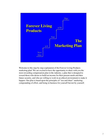forever living plan marketing