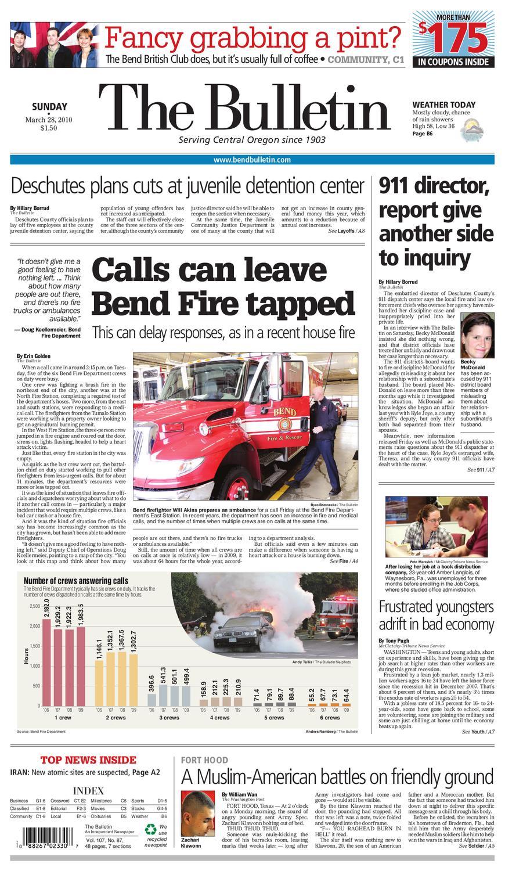 Bulletin Daily Paper 03 28 10 By Western Communications Inc Issuu Slash Setup Sheet 5805 Blank Steve