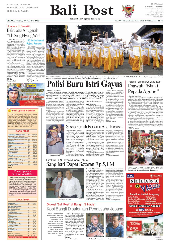 edisi 30 maret 2010 balipost com by e paper kmb issuu