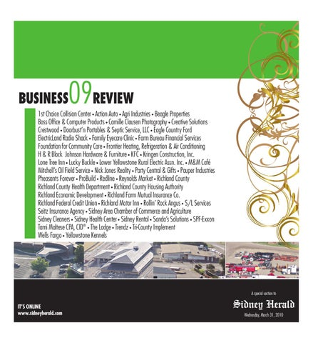 Business review 09 by wick communications issuu for Richland motor inn sidney mt
