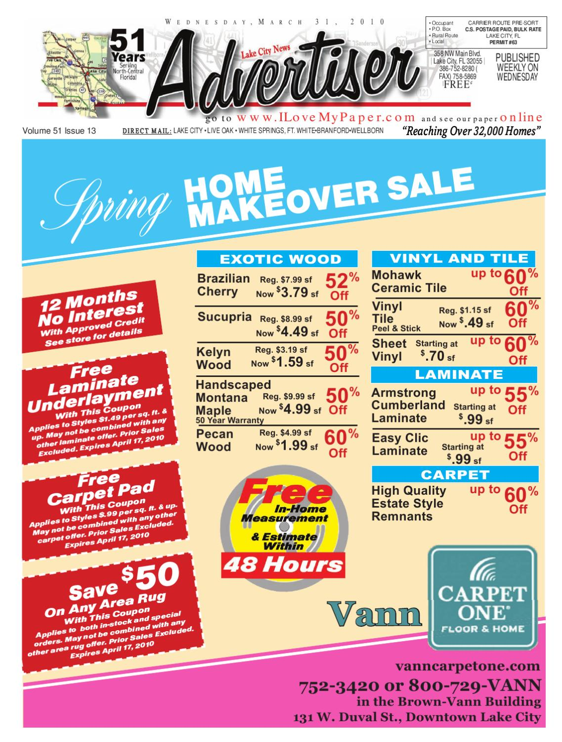 Newspaper Lake City Advertiser Volume 51 Issue 13 by SCBUSA