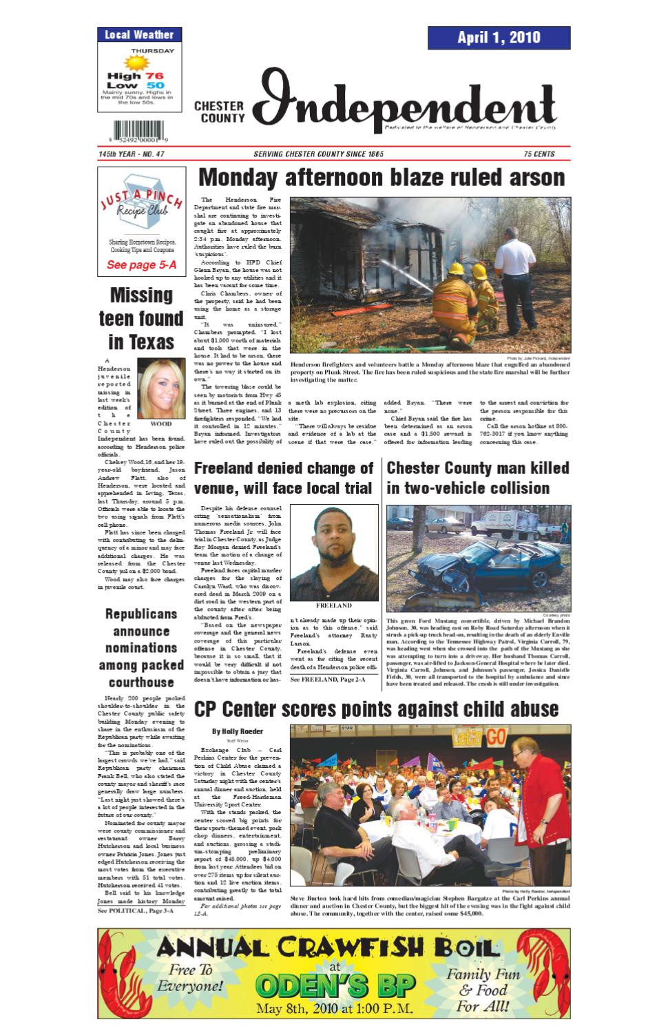 Tennessee chester county enville - Chester County Independent 04 01 10 By Chester County Independent Issuu