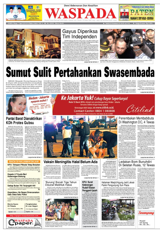 waspada, kamis 1 april 2010 by harian waspada issuu309 Luar Biasa,transformasi Wanita Jelek Karena Jatuh Cinta #12