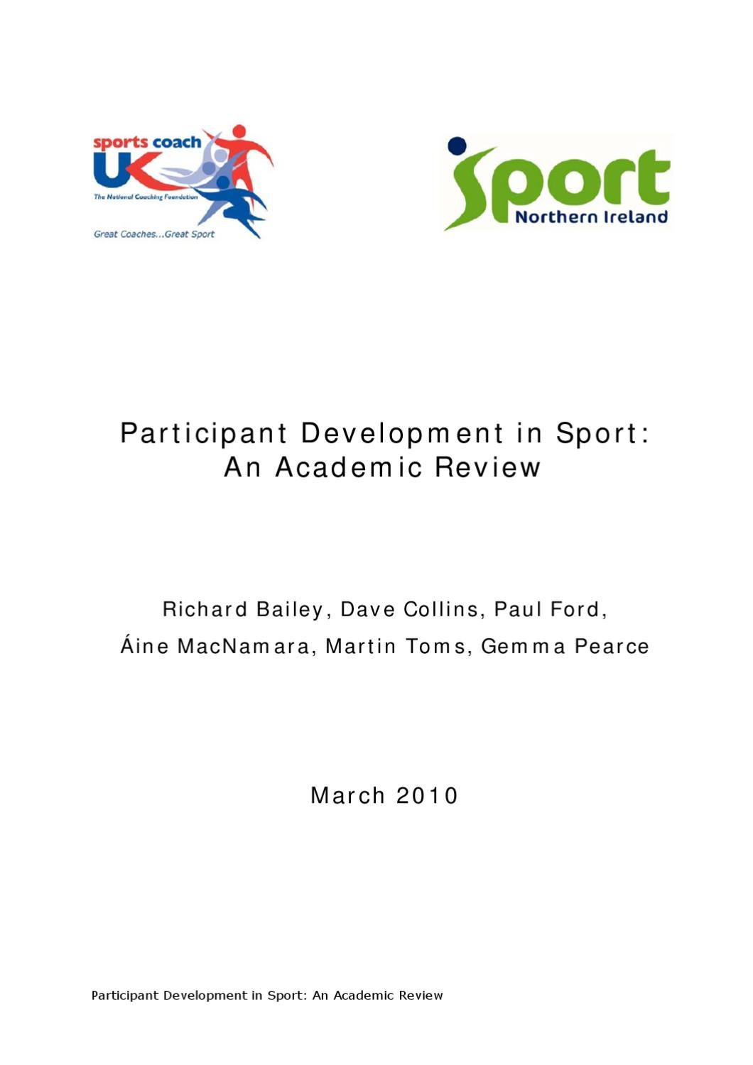 Participant development in sport an academic review by sports participant development in sport an academic review by sports coach uk research issuu biocorpaavc Image collections