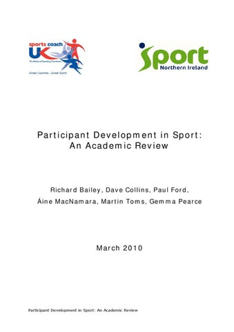 Participant Development In Sport An Academic Review By Sports Coach