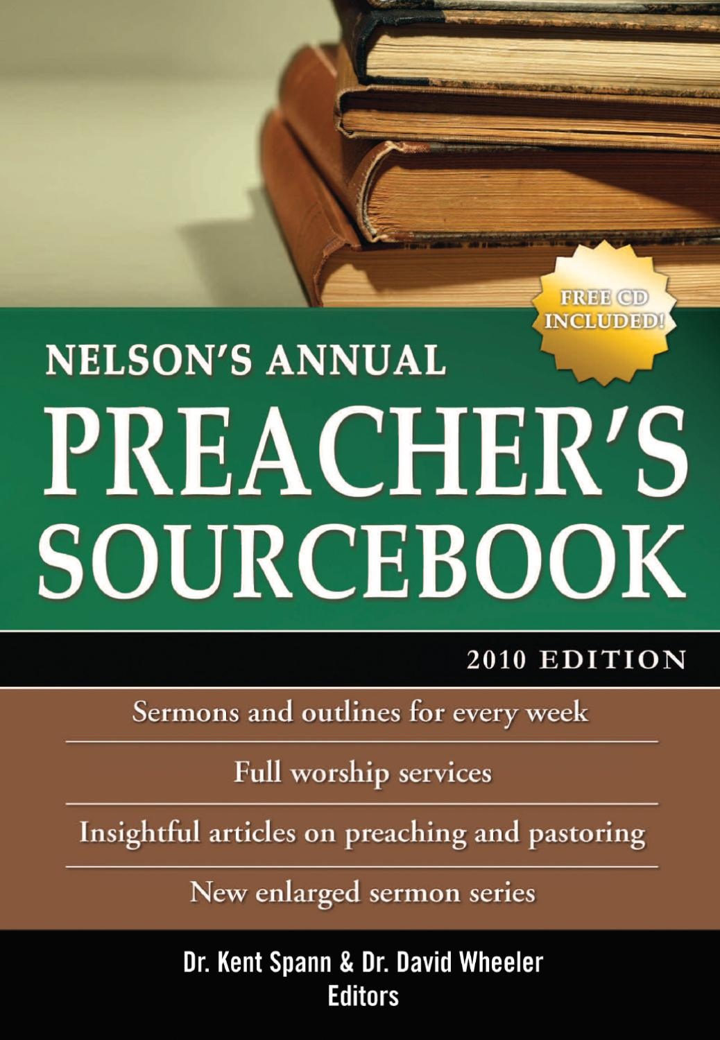 Nelson's Annual Preacher's Sourcebook, 2010 Edition by
