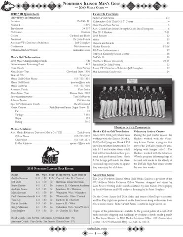f6e5b1bb30a 2010 NIU Men s Golf Media Guide by Russell Houghtaling - issuu