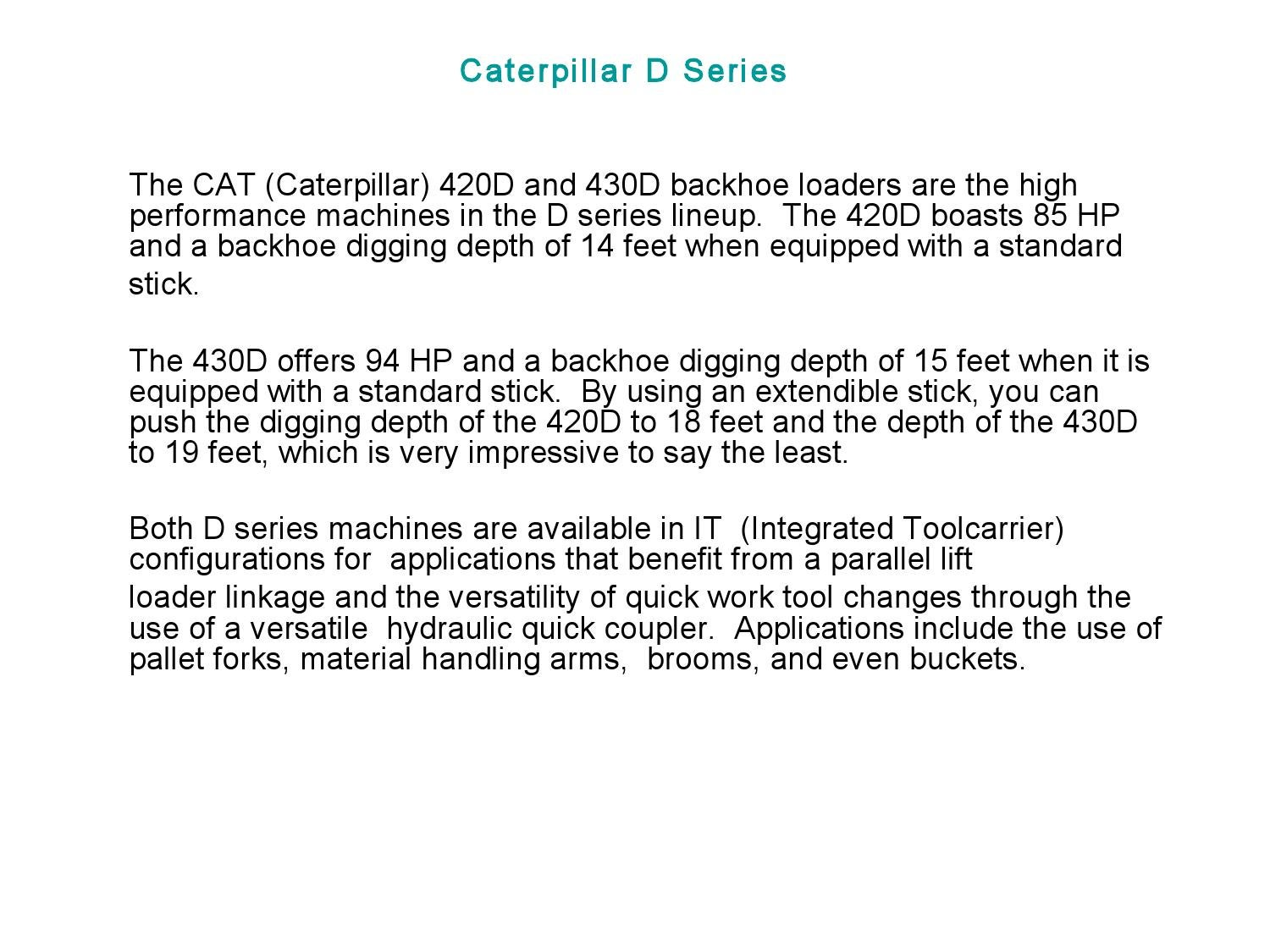 Caterpillar D Series by crystal cane - issuu