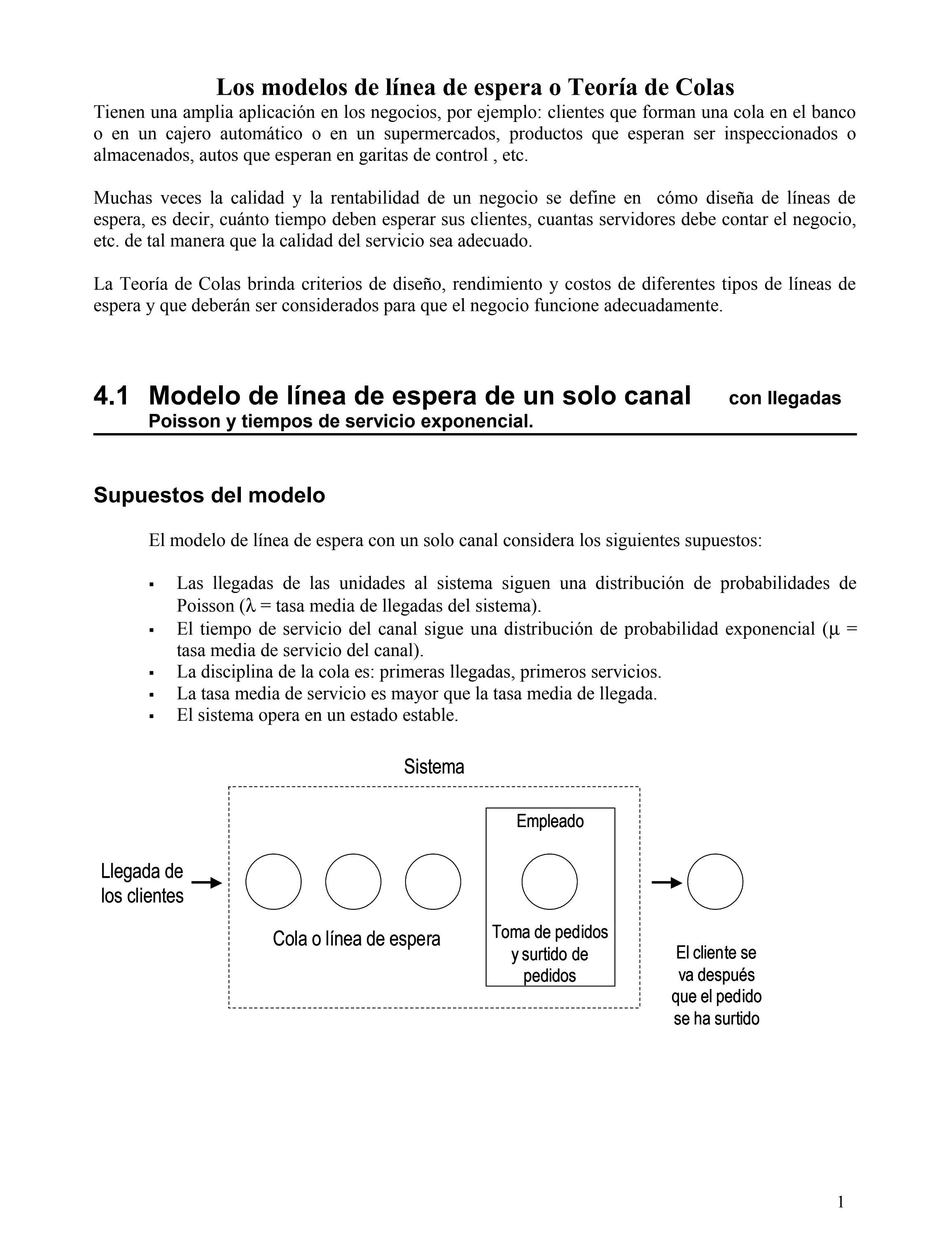 Modelos de espera y teoria de colas by jose villanueva issuu for Cuanto se puede retirar de un cajero