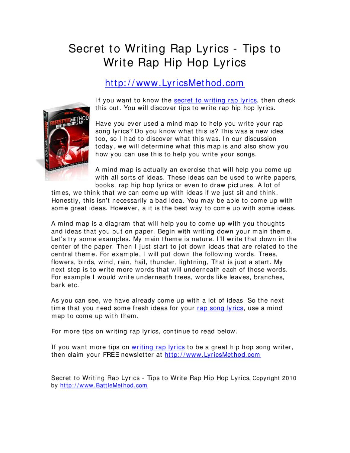 How to read rap