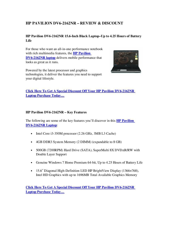 HP Pavilion DV6-2162NR – Review & Discount | The Best Laptop Reviews