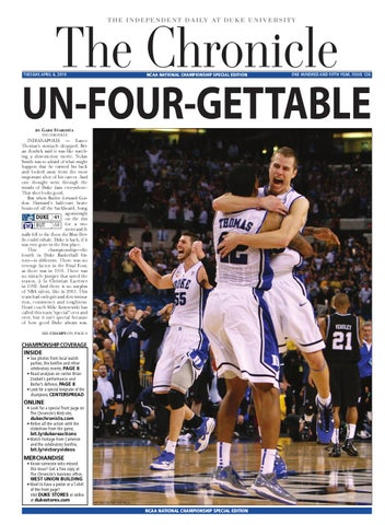 NCAA National Championship Special Edition by Duke Chronicle - issuu b74e12e9d