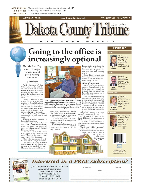 04/08/2010 - dakota county tribune business weekly by dakota