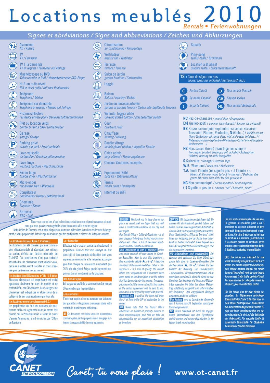 Meubl s 2010 canet en roussillon by office de tourisme issuu - Canet en roussillon office de tourisme ...