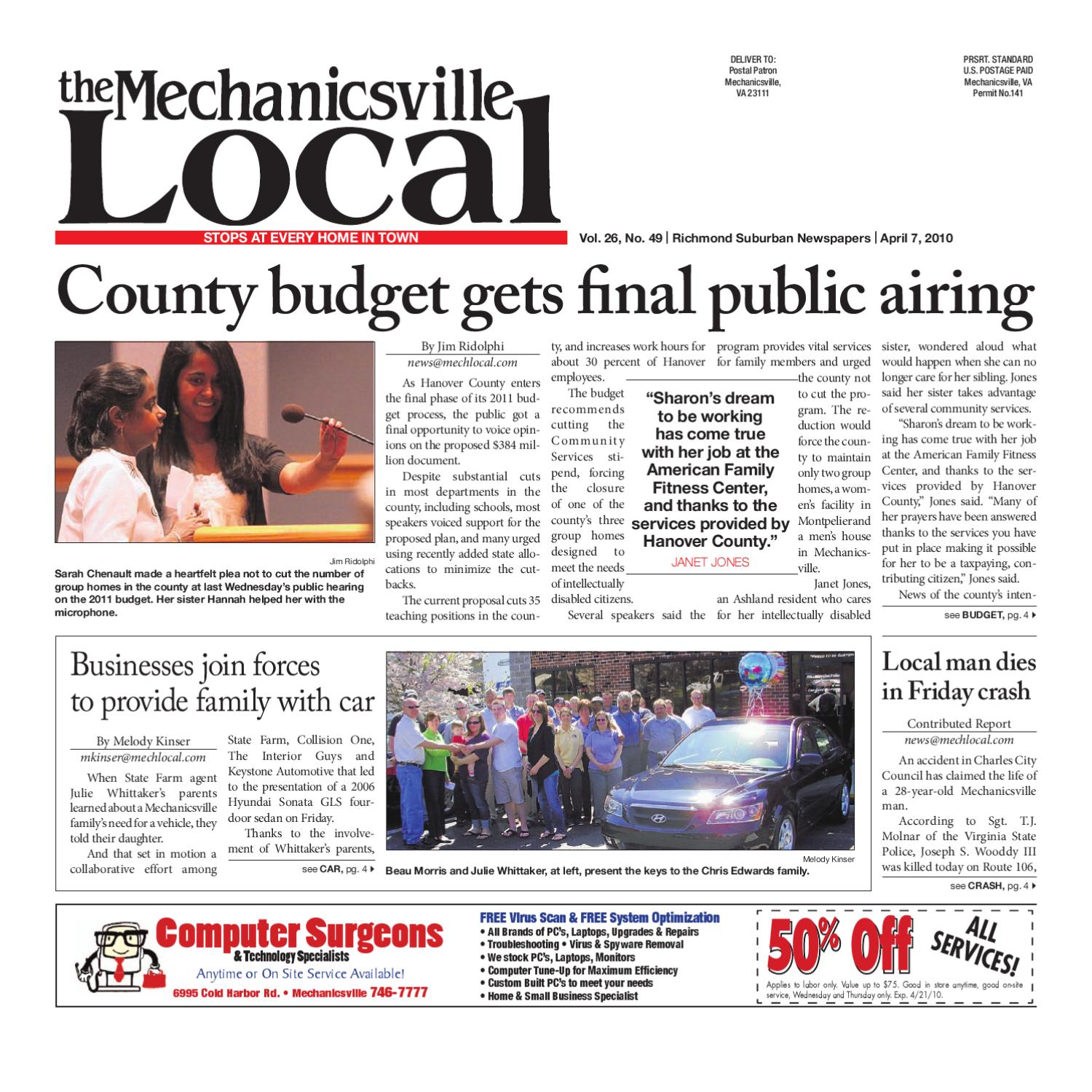 04072010 By The Mechanicsville Local Issuu