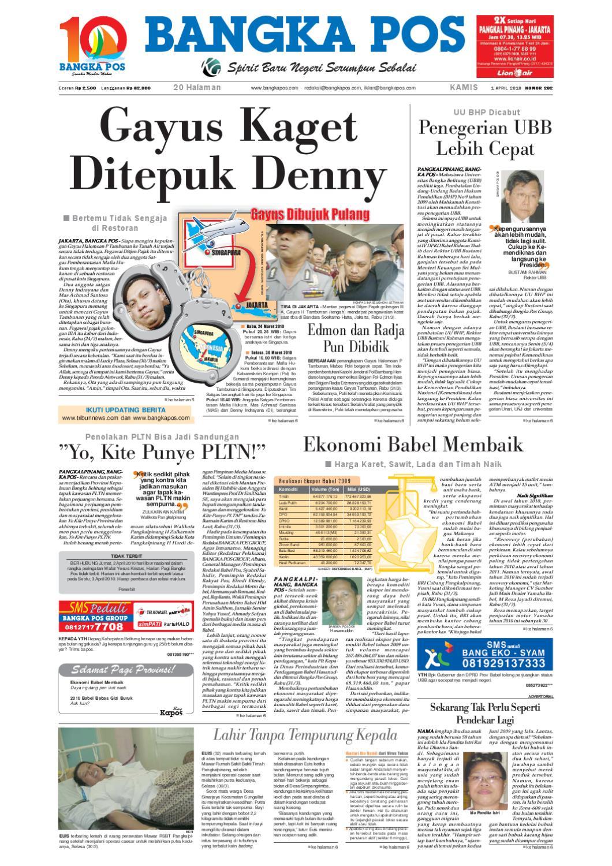 Harian Pagi Bangka Pos Edisi 01 April 2010 By Issuu Produk Ukm Bumn Brasso Metal Polish 200 Ml