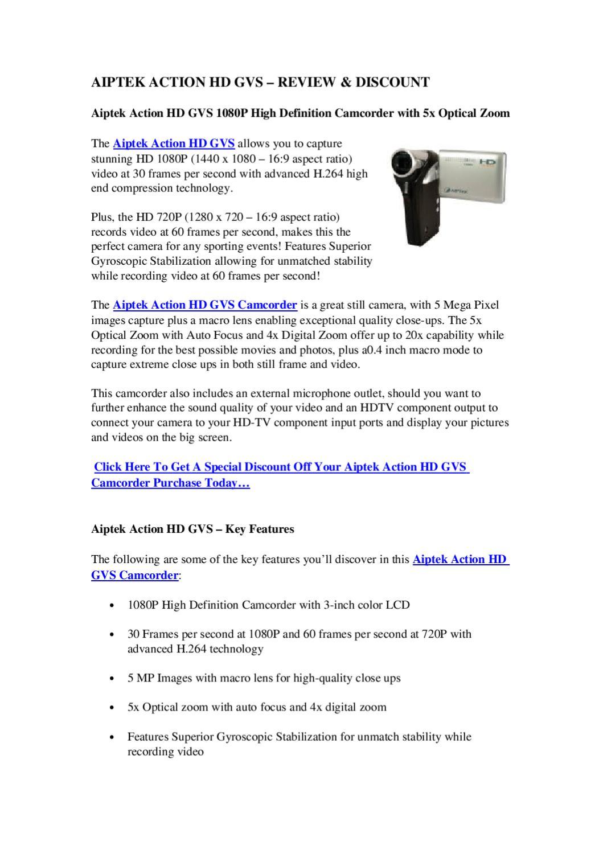 Aiptek Action HD GVS – Review & Discount | Best Camcorders Reviews ...