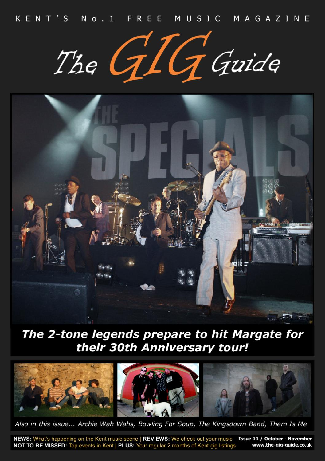the gig guide issue 11 by thanet publishing ltd issuu
