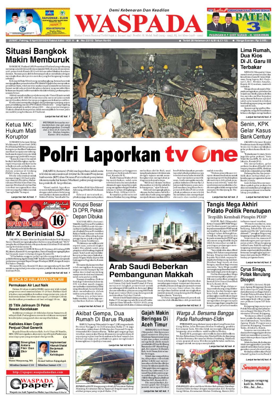 Waspada Jumat 9 April 2010 By Harian Issuu Jam Tangan Qampampq A170 Original Bergaransi