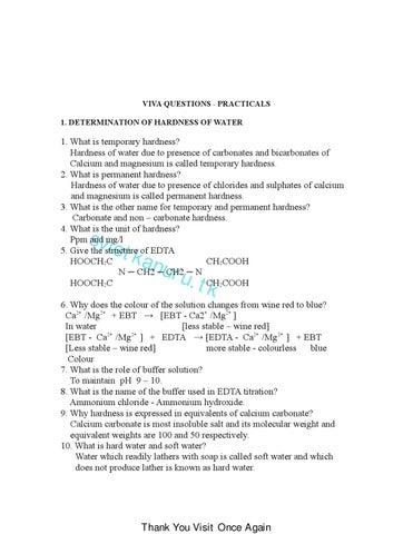CHEMISTRY LAB VIVA Questions By Ramesh Kumar Issuu