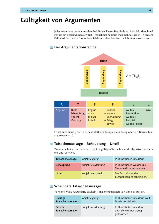 sprache und kommunikation by verlag fuchs ag issuu - Behauptung Begrundung Beispiel