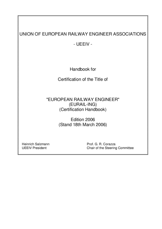 Fh Rosenheimmunity ueeiv eurail ing handbook by martins kreicis issuu